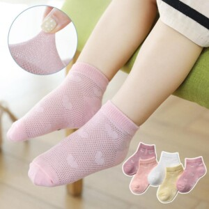 5-piece Cartoon Pattern Breathable Socks for Baby