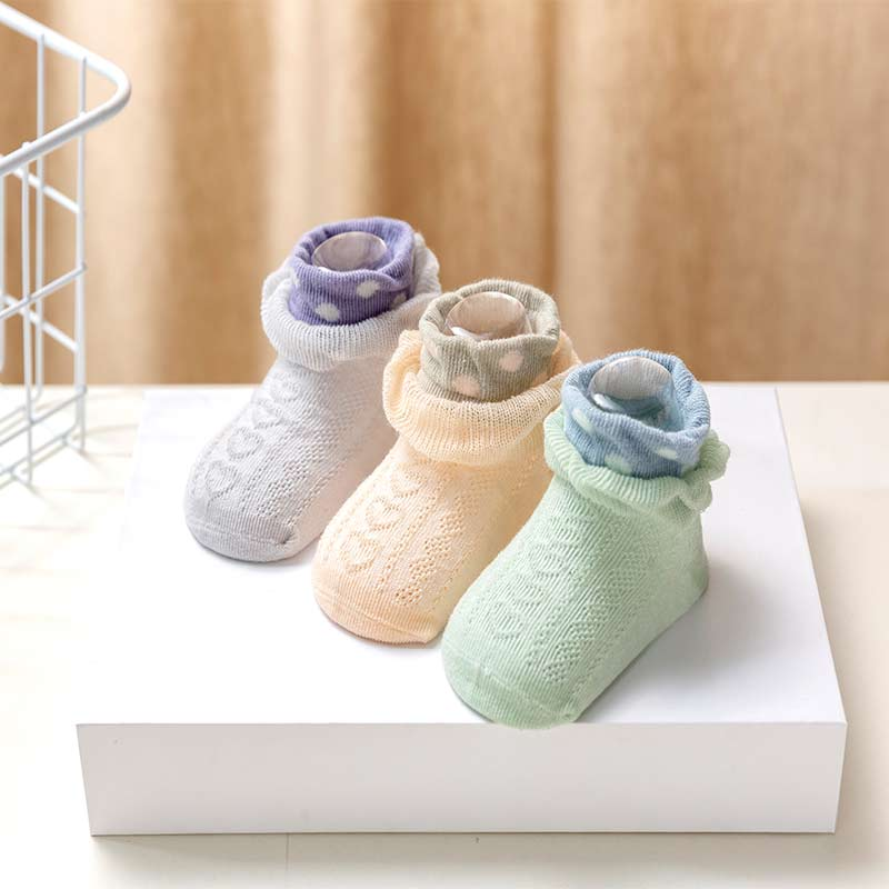3-piece Lace Mesh Socks