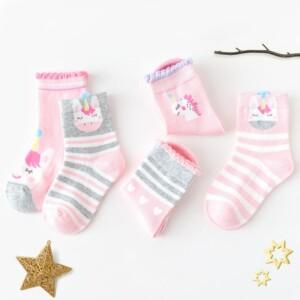 5-piece Cozy Casual Knee-High Stockings