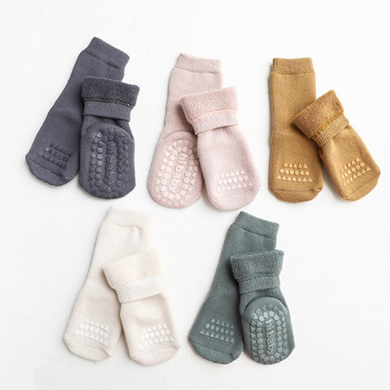 Solid Color Knee-High Stockings for 1-3 Years Baby