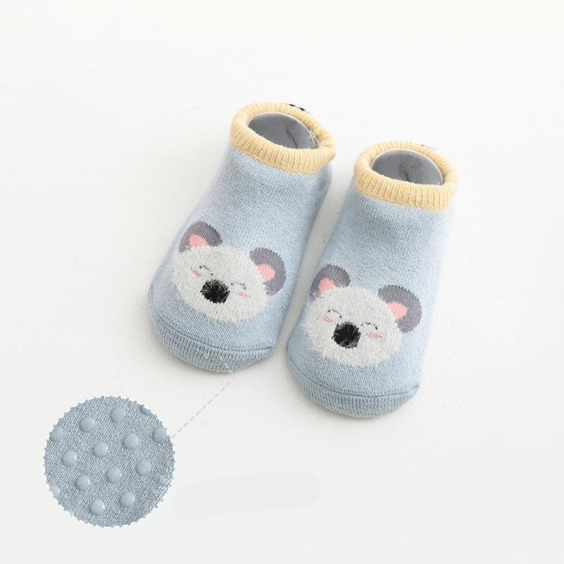 Cartoon Pattern Non-slip Socks for 0-3 Years Old Baby