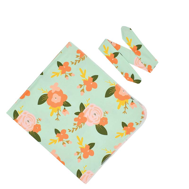Floral Printed Blanket for Baby