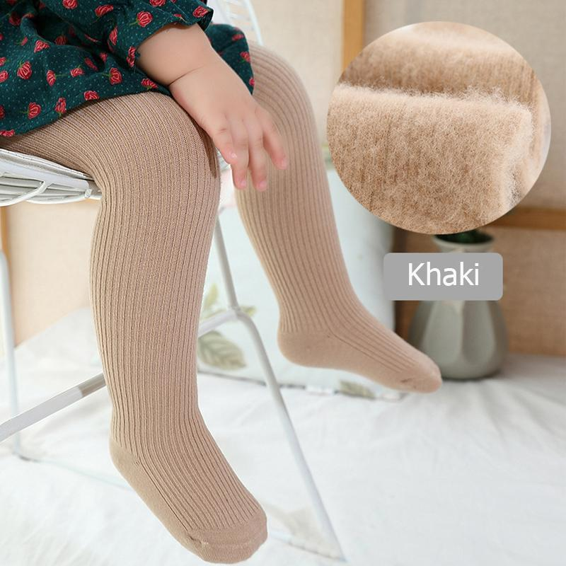 Brushed cloth Footless Leggings Tights for 0-6 Years Old Girl