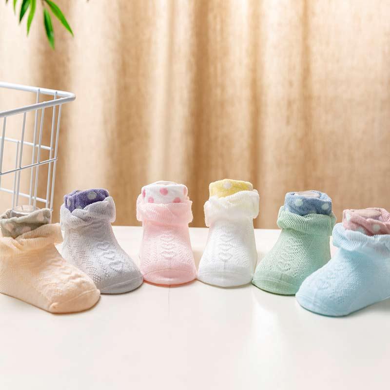 3-piece Lace Mesh Socks
