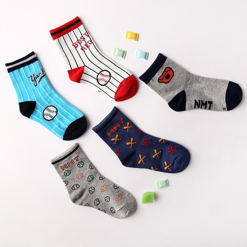 5-piece Cartoon Knee-High Stockings for Unisex