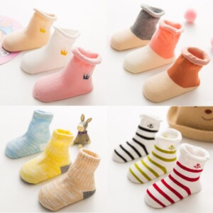 3-piece Cotton Socks for Baby