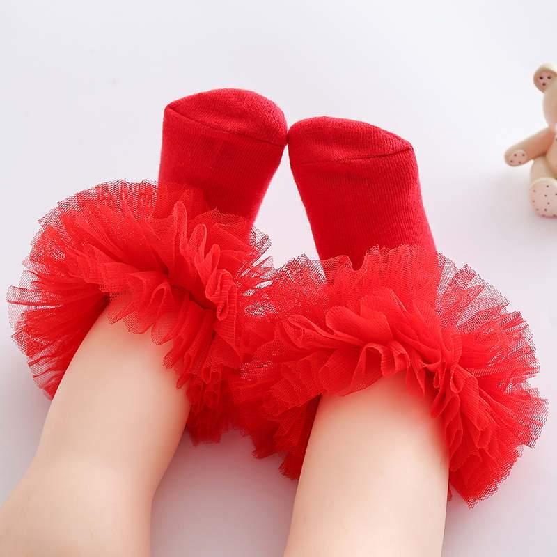 Ruffle Knee-High Stockings