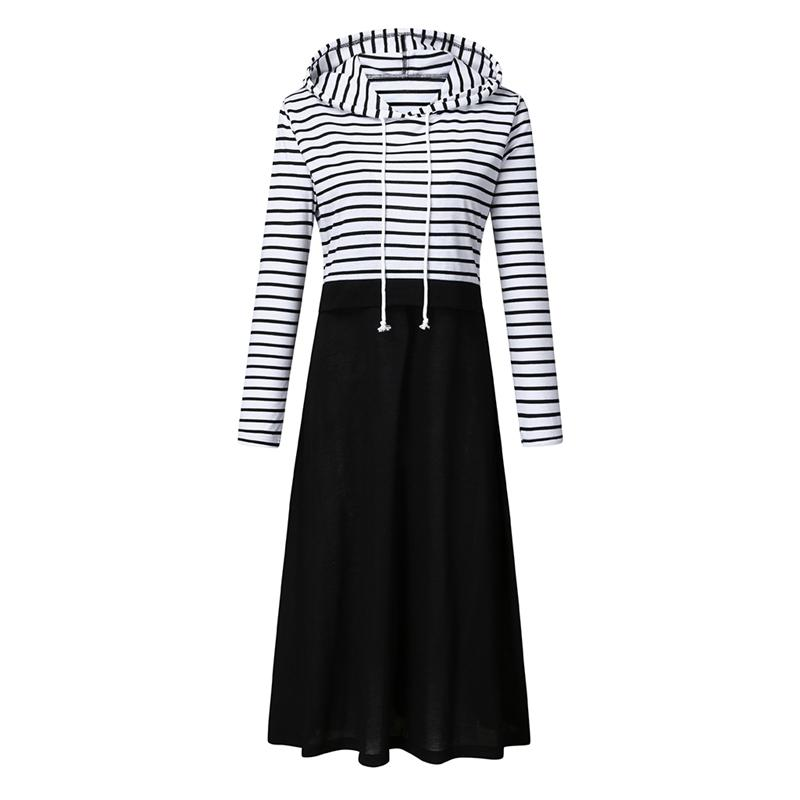 Striped Long-sleeve Nursing Dress