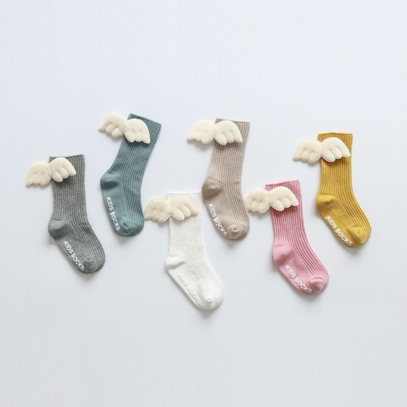 Cute Letter Pattern Soild Wing Decoration Socks