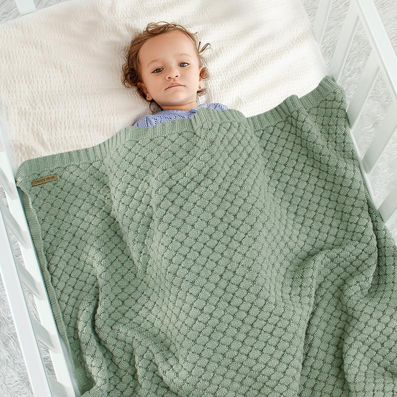 Solid Cotton Blanket for Baby