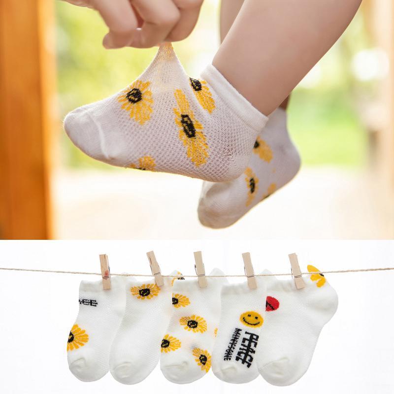 5-piece Daisy Pattern Socks