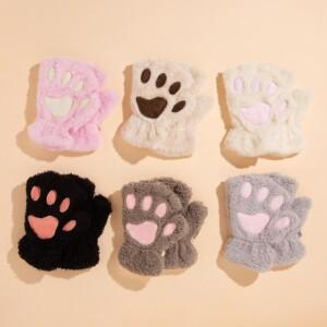 Cat Paw Design Children's gloves for 18-36 Months Unisex