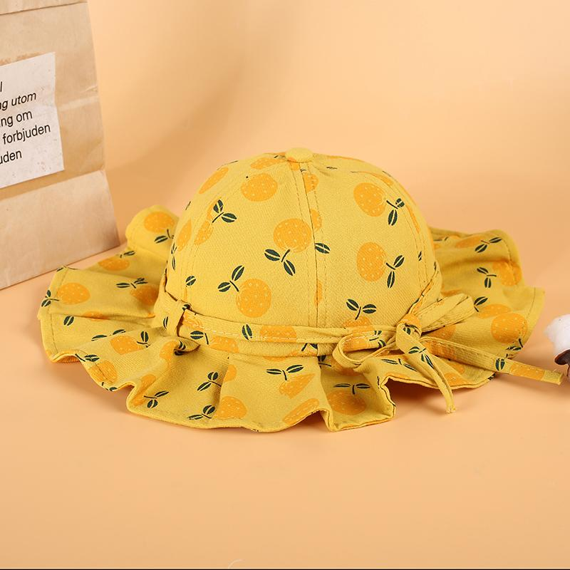 Fruit Pattern Bucket hat for 0-3 Years Old Baby