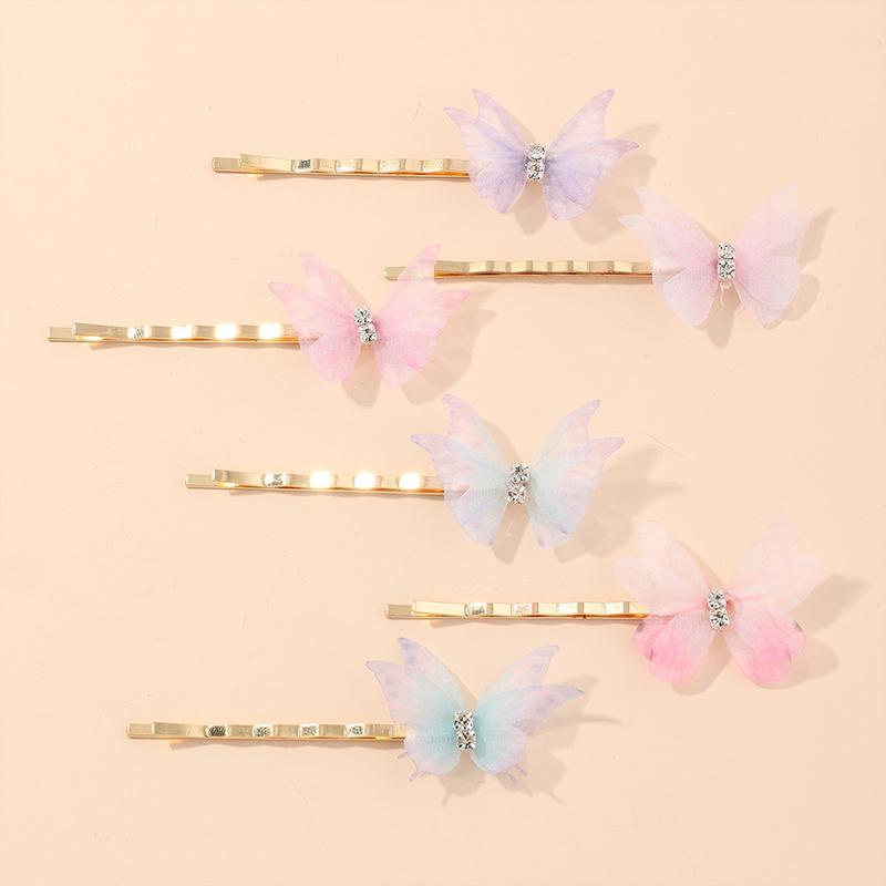 6-piece Butterfly Children's Hair Accessories Hair Clip