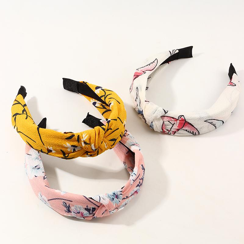 3-Pieces cloth Printed hair band For Grils