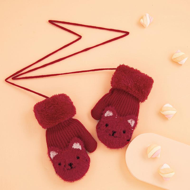 Bear Pattern Children's Gloves for Toddler
