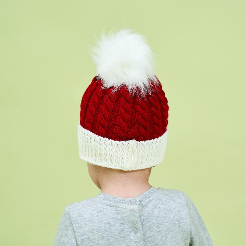Christmas Woolen hat for 0-3 Years Old Baby
