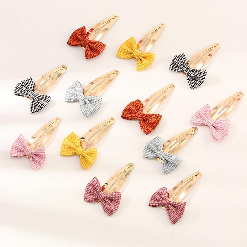 12-pieces Cute Bow Hair clip For Girls
