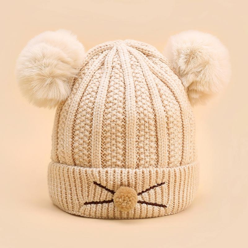 Hairball Woolen Hat for 0-3 Years Old Baby