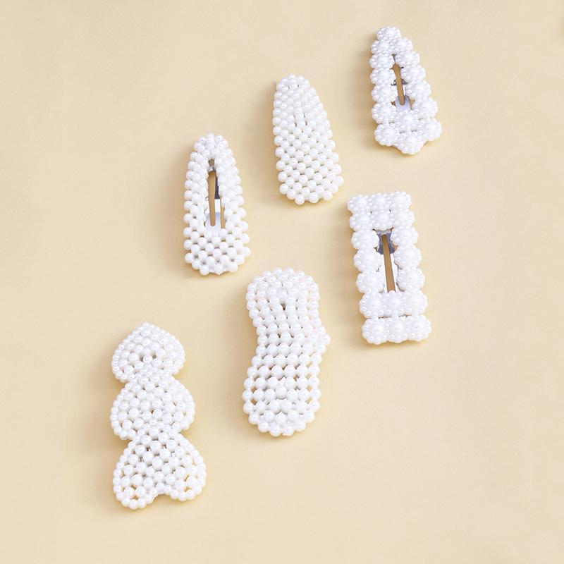 6-piece Pearl Decor Children's Hair Clip