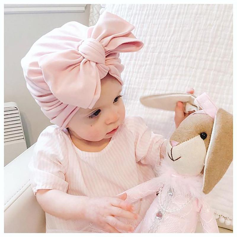 Baby Turban Hat with Bow Children's Hats