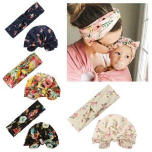 Sweet Floral Printed Parent-child Headband
