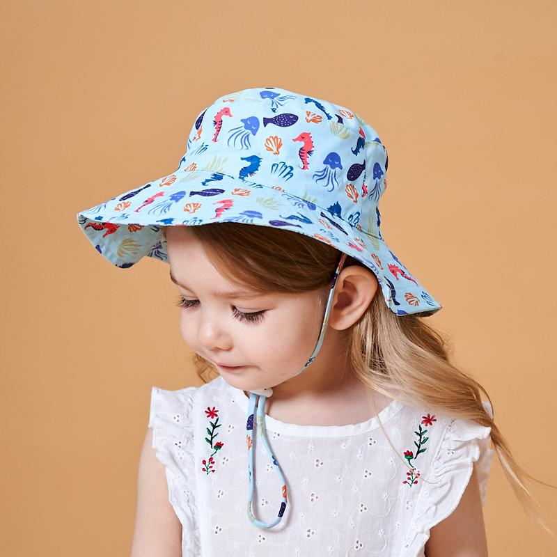 Cartoon Pattern Bucket Hat for 0-3 Years Old Baby