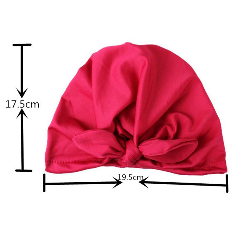 Solid Baby Turban with Bow Basin Children's Woolen Hat