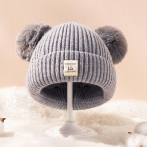 Lovely Hairball Woolen hat for 0-3 Years Old Baby