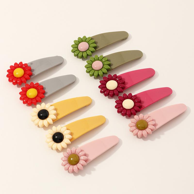 10-piece Flower Children Hair Clip for 9-12 Years Old Girl