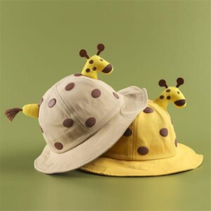 Cartoon Deer Basin Cap for Baby