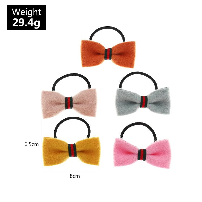 5-piece Bowknot Hair Rope for Girl