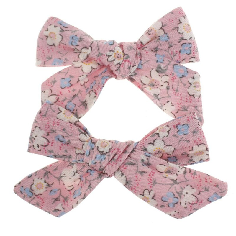 Cotton Printed Hair Clip for Girl