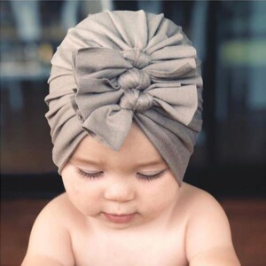 Cute Bownot Decoration Ruffled Head Cap