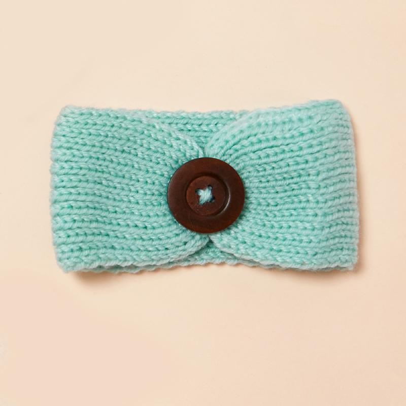 Button Decoration Headwear for 0-1 Years Old Unisex
