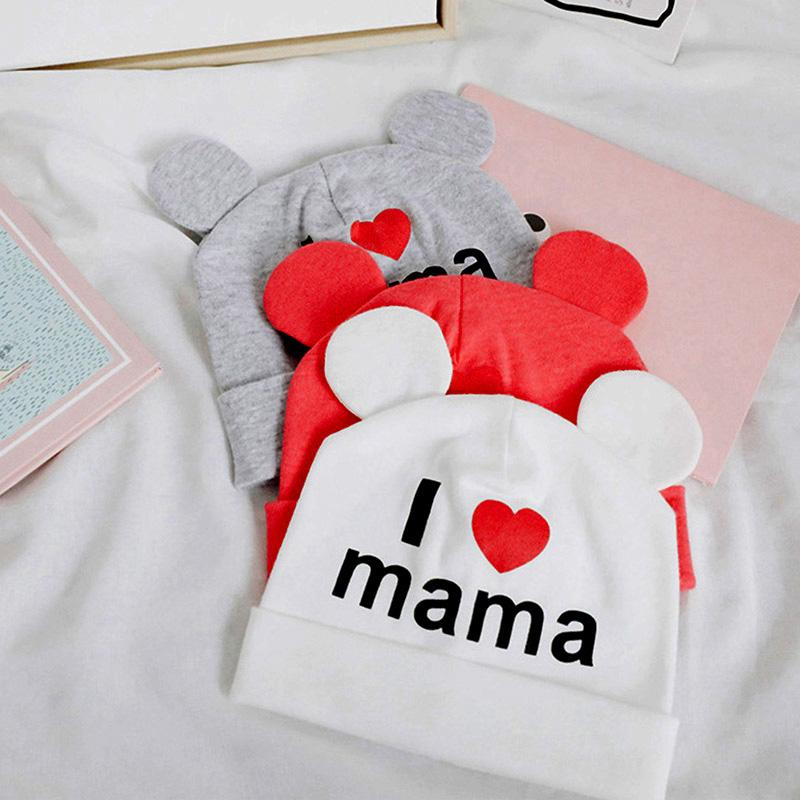 I Love Mama Papa Baby Letter Woolen Hat