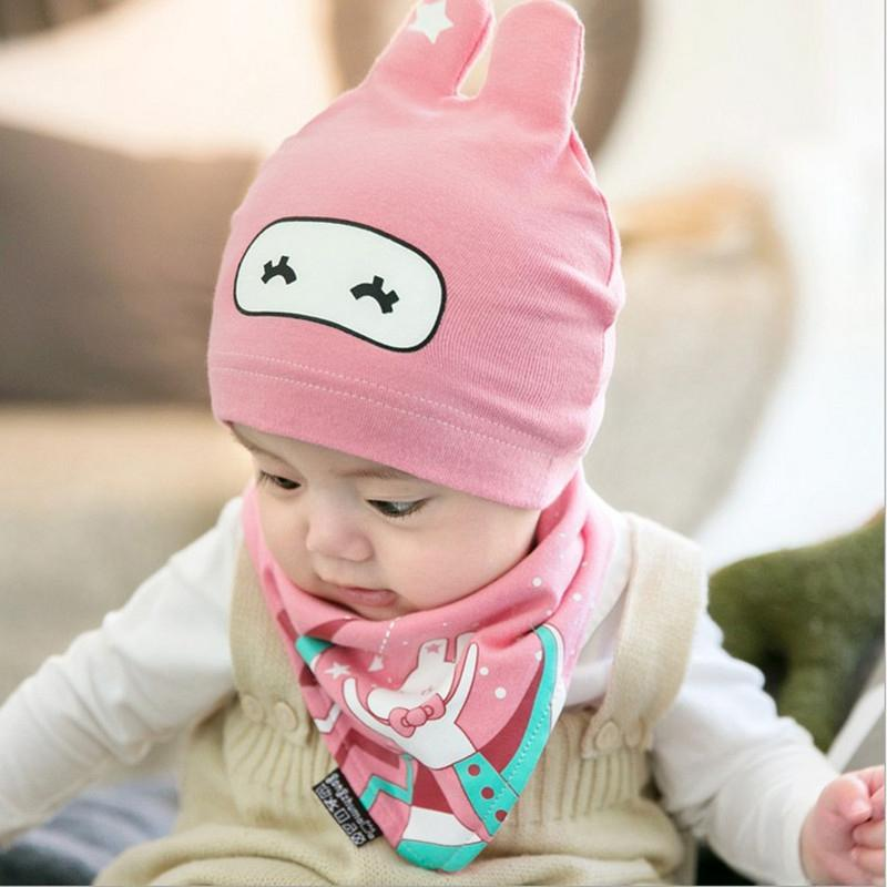 2-piece Lovely Hat & glove for 0-1 Years Old Unisex