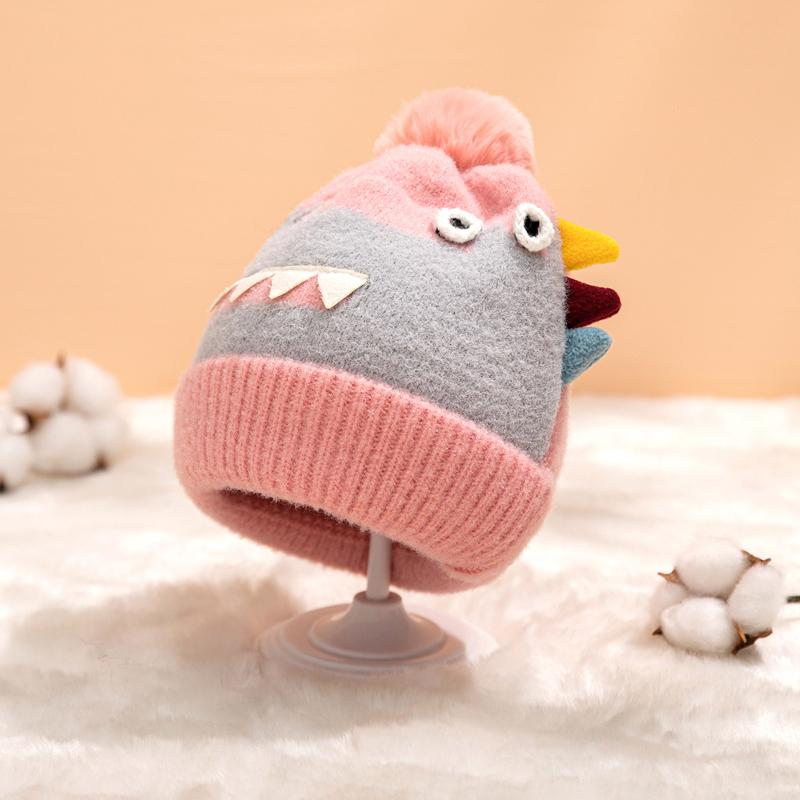 Monster Pattern Woolen Hat for 0-3 Years Old Baby