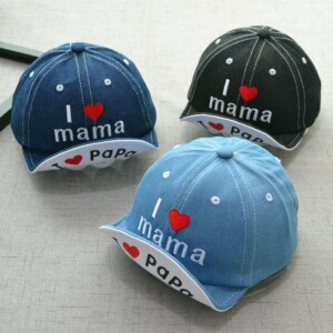 Handsome Letter Embroidery Denim Cap