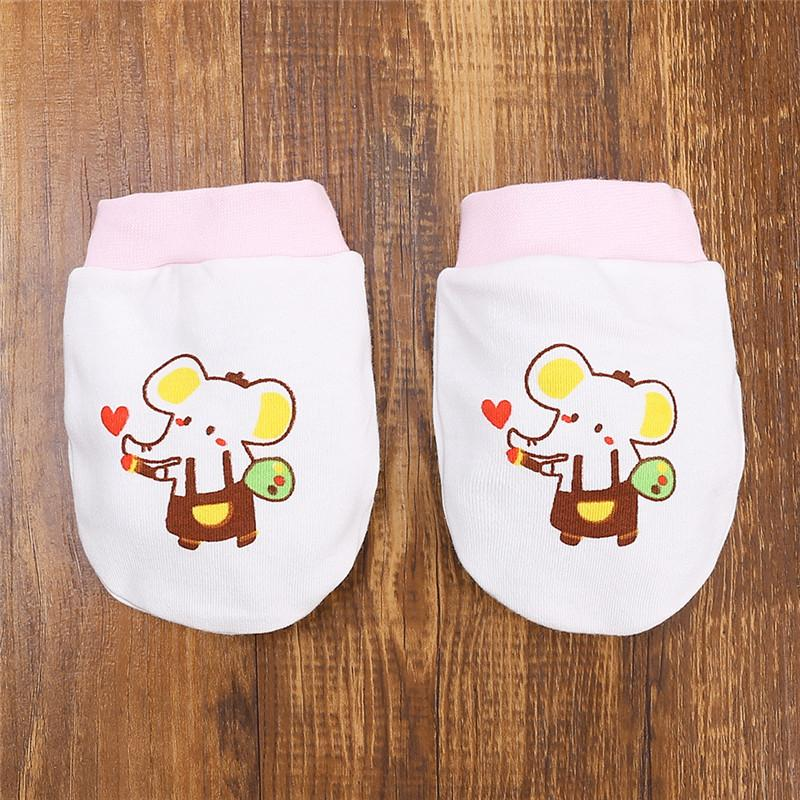 Elephant Pattern Baby anti-scratch gloves for 0-1 Years Old Baby
