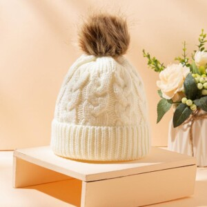 Solid Color Woolen hat for 0-3 Years Old Baby