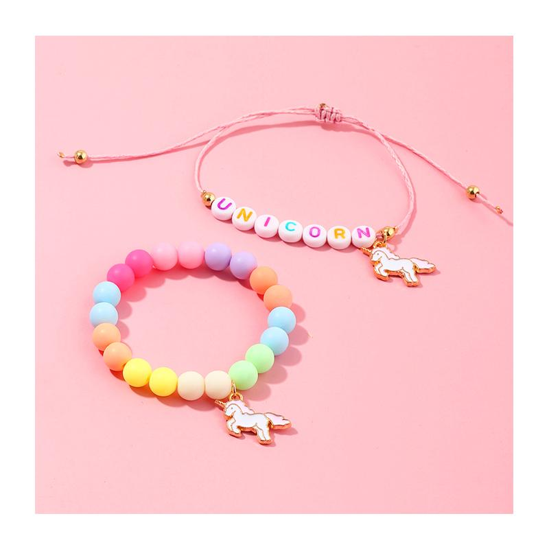 2-Pieces Resin Cute Children's bracelet