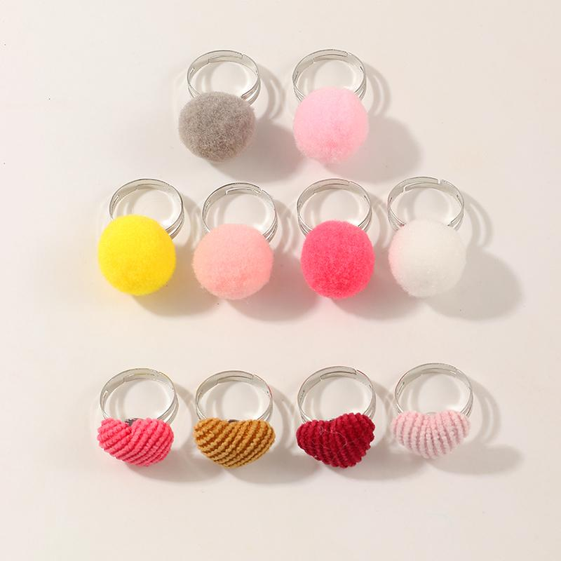 10-Pieces Sweet Children's ring For Girls
