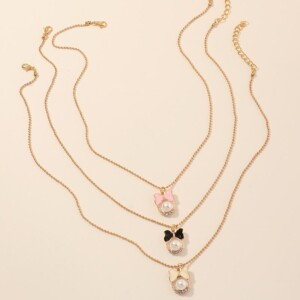 3-piece Stainless Steel Baby Jewelry Necklace
