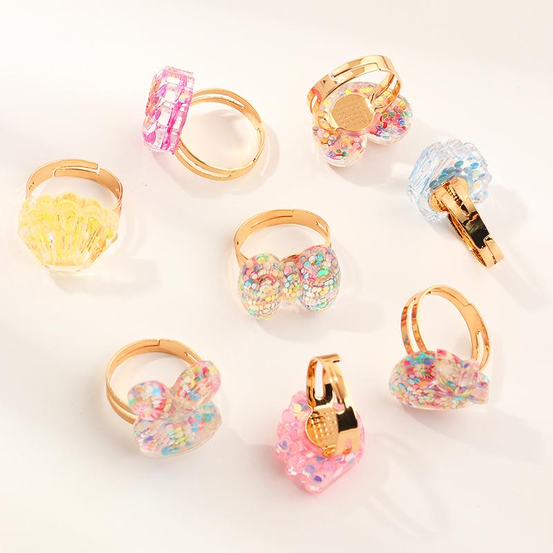 6-piece Casual Elegant Children's Jewelry Ring
