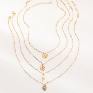 4-Pieces Sweet Children's necklace For Girls