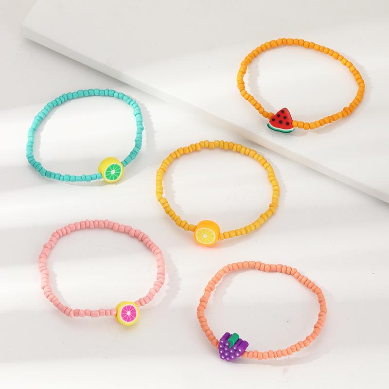 5-Pieces Resin Cute Children's bracelet