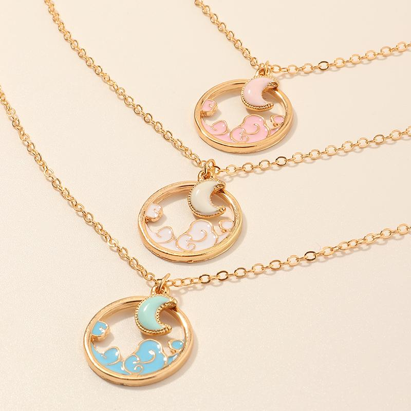 Moon Pattern Children's necklace for Girl