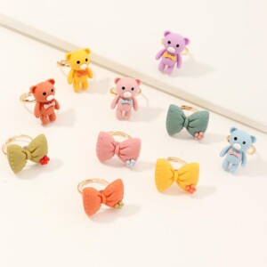 10-piece Children's Jewelry Ring