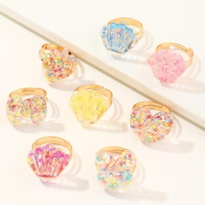 6-piece Casual Elegant Children's Jewelry Ring